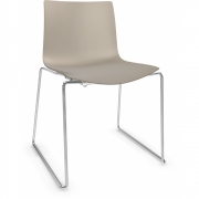 Arper - Catifa 46 0278 Sled Base Chair unicoloured Dove Grey | Chrome