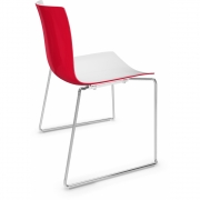 Arper - Catifa 46 0278 Sled Base Chair bicoloured