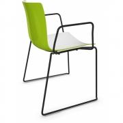 Arper - Catifa 46 0278 chaise luge avec accoudoirs bicolore