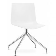Arper - Catifa 46 0368 Chair Star Base unicoloured White | Alu polished