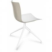 Arper - Catifa 46 0368 Stuhl Sternfuß zweifarbig Weiß-Elfenbein | Weiß