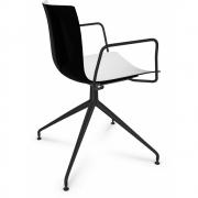 Arper - Catifa 46 0368 fauteuil pied étoile bicolore