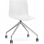 Arper - Catifa 46 0369 / 0386 chaise avec roulettes fixe mono