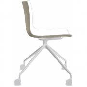 Arper - Catifa 46 0369 chaise avec roulettes fixe bicolore