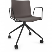 Arper - Catifa 46 0369 / 0386 fauteuil avec roulettes fixe mono
