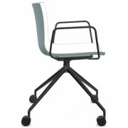 Arper - Catifa 46 0369 fauteuil avec roulettes fixe bicolore