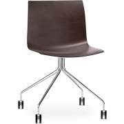 Arper - Catifa 46 0273 / 0284 Chair with Castors fix chrome unicoloured