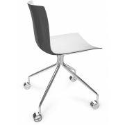 Arper - Catifa 46 0273 Chair with Castors fix chrome bicoloured
