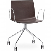 Arper - Catifa 46 0273 / 0284 Armchair with Castors fix chrome unicoloured