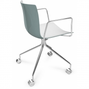 Arper - Catifa 46 0273 Armchair with Castors fix chrome bicoloured