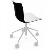 Arper - Catifa 46 0380 chaise pivotante bicolore