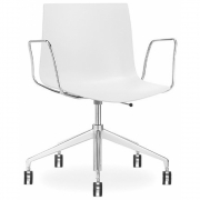 Arper - Catifa 46 0380 / 0352 chaise pivotante avec accoudoirs mono