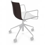 Arper - Catifa 46 0380 chaise pivotante avec accoudoirs bicolore