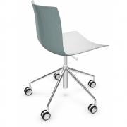 Arper - Catifa 46 0294 chaise pivotante chromé bicolore