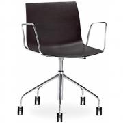 Arper - Catifa 46 0294 / 0291 chaise pivotante avec accoudoirs chromé mono