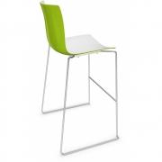 Arper - Catifa 46 0471 tabouret de bar bicolore H 76cm Blanc-Vert | Chromé