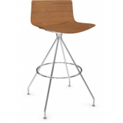 Arper - Catifa 46 0492 Barstool Wood H 65cm
