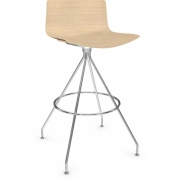 Arper - Catifa 46 0491 Barstool Wood H 73cm