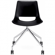 Arper - Palm 1207 Chair with Castors Trestle fixed