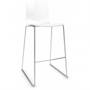 Arper - Aava 3961 Barstool Sled Base 74.5 cm | White | Chrome