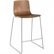 Arper - Aava 3911 Barstool Sled Base Wood
