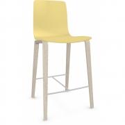 Arper - Aava 3993 tabouret de bar pieds en bois 65 cm | Jaune | Bouleau blanc