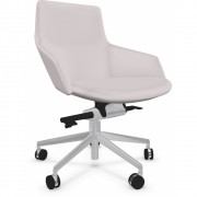 Arper - Aston Conference Syncro 1933 Chair with Castors