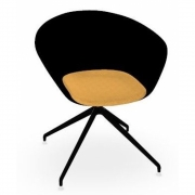 Arper - Duna 02 4226 Trestle Swivel Chair Black / Yellow