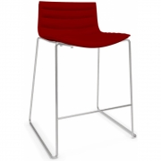 Arper - Catifa 46 0486 Bar stool Valencia red chrome H 65cm
