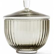 Lyngby - Bonbonniere Glas rauchfarben
