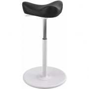 Varier - Move Small Stool Leather Base White