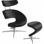 Varier - Peel Armchair with Footstool Leather