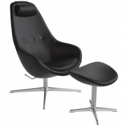 Varier - Kokon Armchair with Footrest Leather