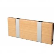 LoCa - Knax Garderobenleiste Holz 2 Haken