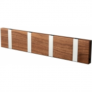 LoCa - Knax Wall Wardrobe Wooden 4 Hooks Walnut oiled | Grey