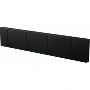LoCa - Knax Wall Wardrobe 4 Hooks Black | Black