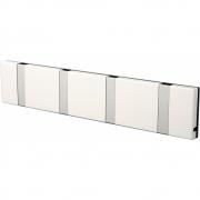 LoCa - Knax Garderobenleiste 4 Haken Weiß | Grau
