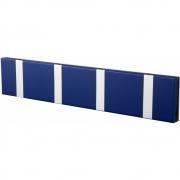LoCa - Knax Garderobenleiste 4 Haken Saphir | Grau