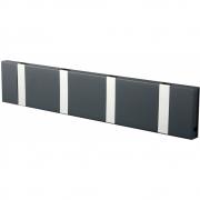 LoCa - Knax Garderobenleiste 4 Haken Anthrazit | Grau