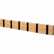 LoCa - Knax Garderobenleiste Holz 6 Haken