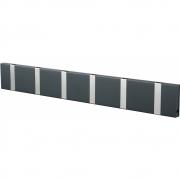 LoCa - Knax Garderobenleiste 6 Haken Anthrazit   Grau