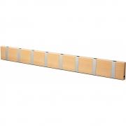 LoCa - Knax Garderobenleiste Holz 8 Haken Buche geölt | Grau