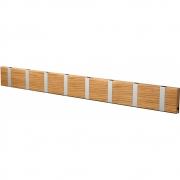 LoCa - Knax Garderobenleiste Holz 8 Haken Eiche geölt | Grau