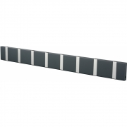 LoCa - Knax Garderobenleiste 8 Haken Anthrazit | Grau