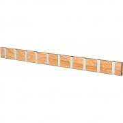 LoCa - Knax Garderobenleiste Holz 10 Haken Eiche geölt   Grau