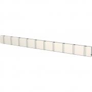 LoCa - Knax Garderobenleiste 10 Haken Weiß | Grau