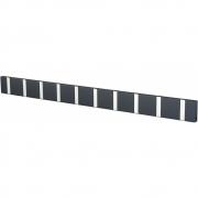 LoCa - Knax Garderobenleiste 10 Haken Anthrazit | Grau