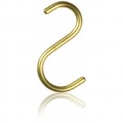 Nomess Copenhagen - S-Hook Haken (5 Stk.) Medium | Gold