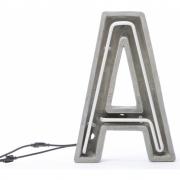 Seletti - Alphacrete Alphabet Lamp A