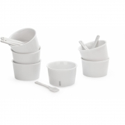 Seletti - Estetico Quotidiano Ice Cream Set (6 Bowls & Spoons)